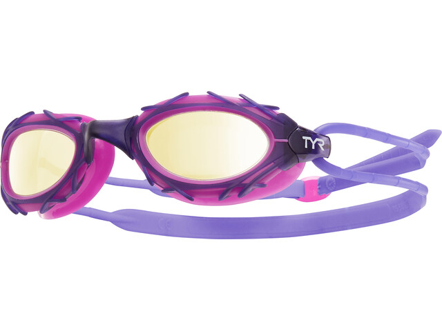 TYR Nest Pro Nano Goggles Metalised gold/purple